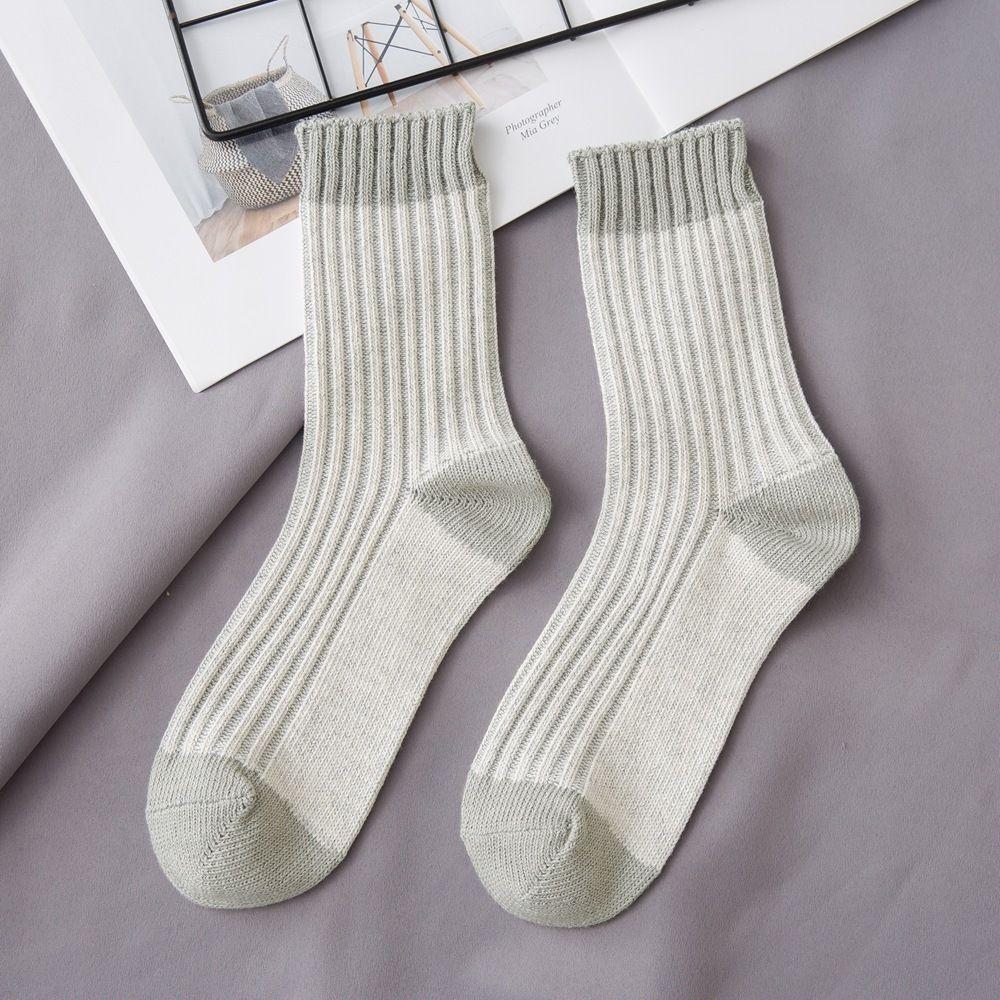 cotone ago grosso delle donne di corrispondenza di colore di cotone spesso l'autunno e l'inverno ago semplice ispessito semplice delle donne calze