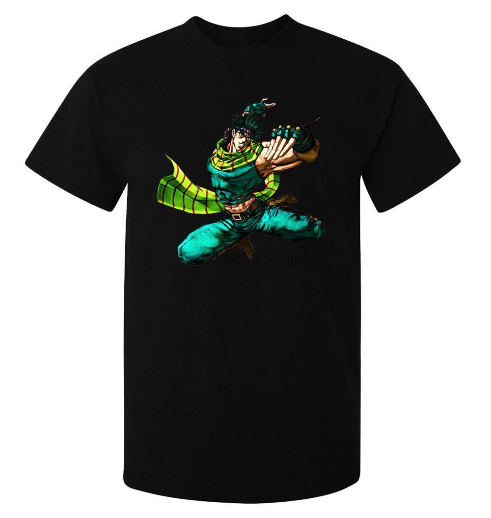 Jojos Bizzare Adventure Battle Tendancy Joseph Joestar MenS T Shirt Black Fashion Tee Shirt