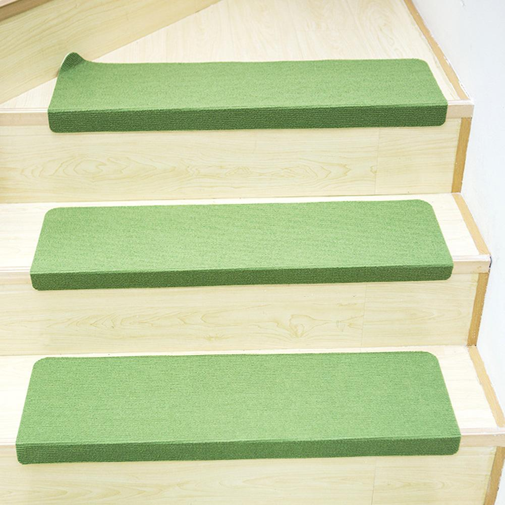 3PCS / Set Casa Wear resistente PVC Backed slittamento non Antibatterici hotel Stair Mats