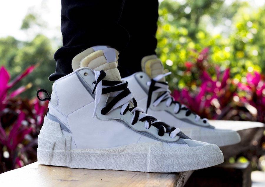 En Yeni Otantik Sacai Blazer Mid Siyah Beyaz Erkekler Kadınlar Moda Paten Avangardı Trailblazers Spor Sneakers BV0062-002 Koşu Ayakkabıları x