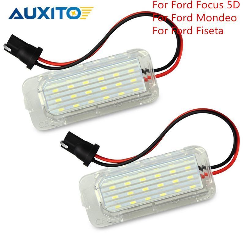2pcs 12v LED шины CanBus номер номерного знака свет лампы Ошибка Free для фокусировки 5d Мондео 4 5 Fiseta 2009 2012 2020