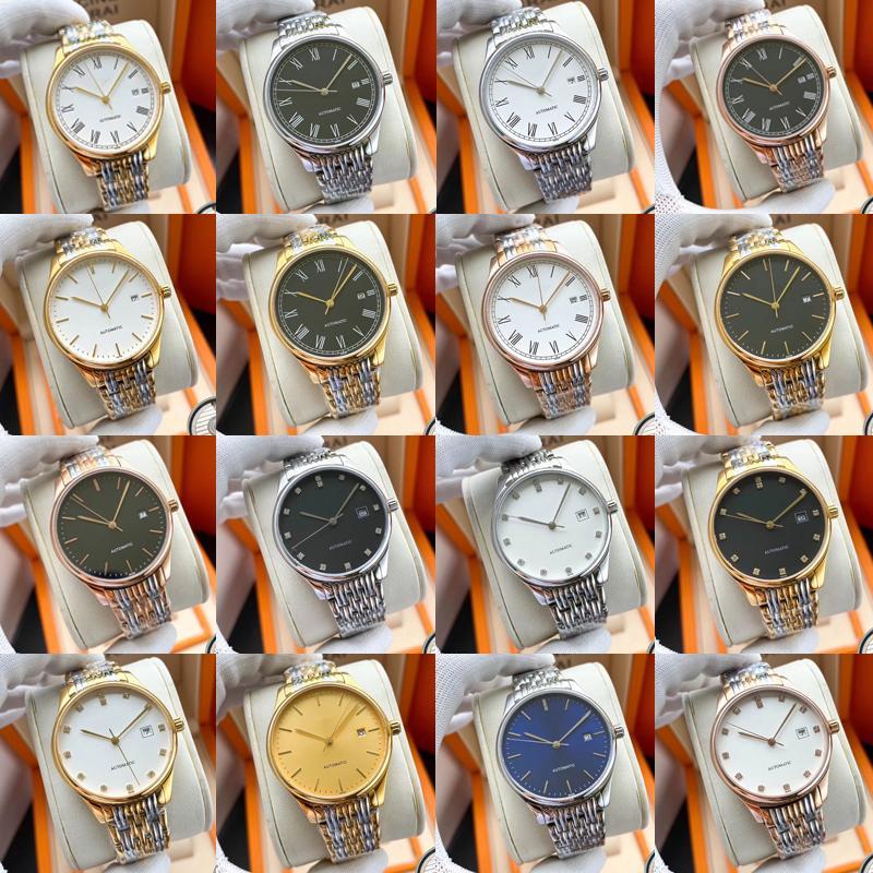 Longines Diamant Automatikuhr Frauen Dame Luxus-Designer-Uhren Damen weiblich kleiden Schnalle Gold Armbanduhren stieg Geschenk für Mädchen
