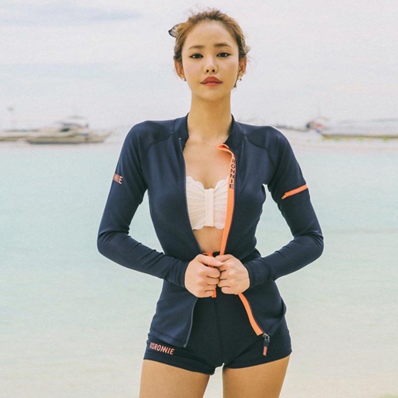 9xHCt Zayıflama sıkı sıkı kadın bölünmüş 2020 bikini tarzı göbek kapsayan dalış mayo Dalış takım elbise Bikini Kore mayo