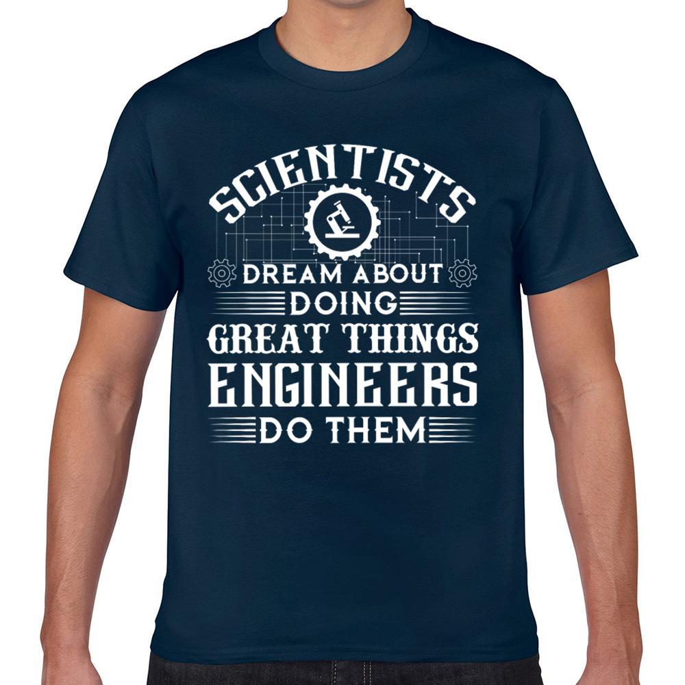 Tops T-shirt des hommes Ingénieurs Vs scientifiques Mode blanc Homme T-shirt Imprimer