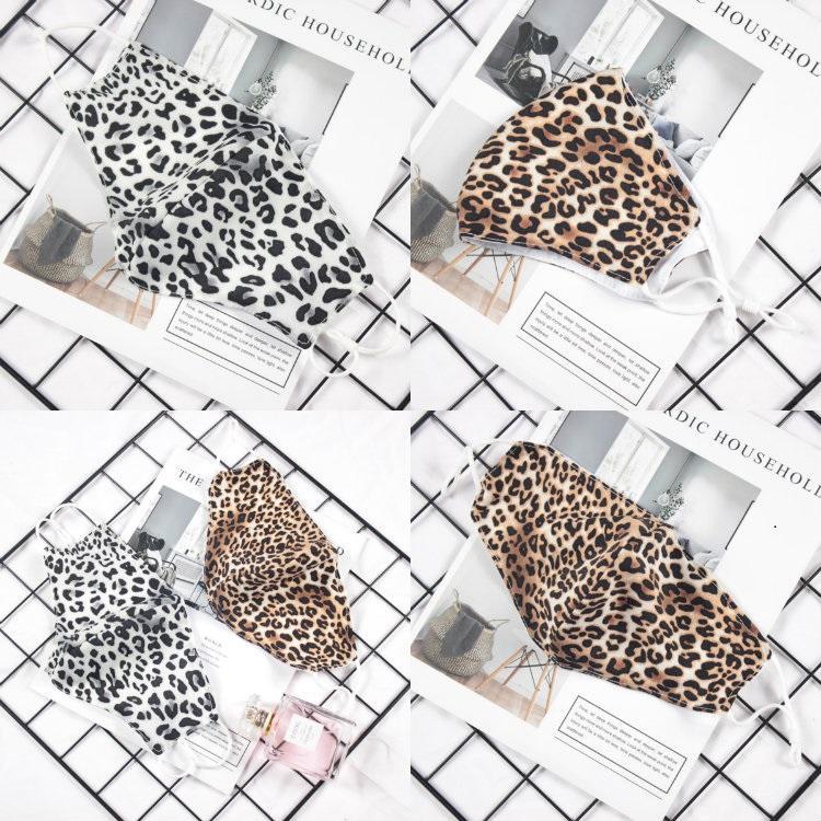 Nuovo 100Pcs Pelle di leopardo doppio strato maschera regolabile adulti antivento, resistente alla polvere, maschera traspirante, lavabile e riutilizzabile 2 Stile T50032
