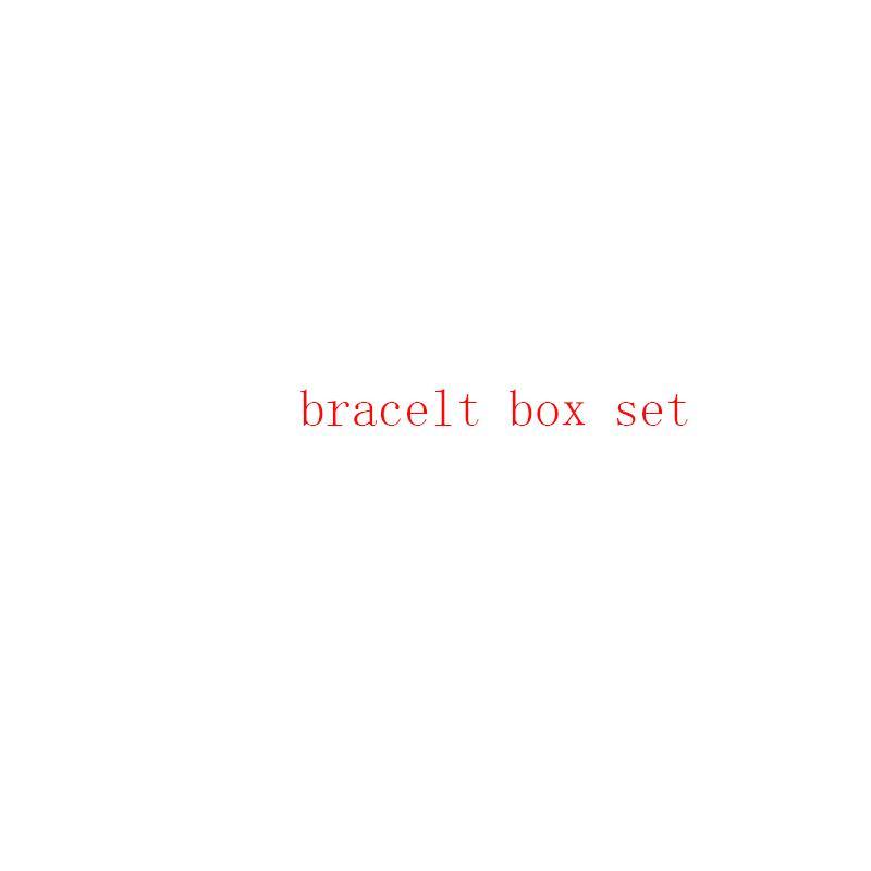 Will not ship separately New arrive Top Highest quality original bracelet ring necklace box set bag