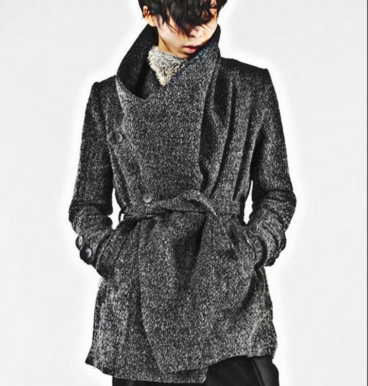 M - XL Hot 2020 Winter-Männer Neue kultivieren Art und Weise Material Gürtel warme Persönlichkeit Trenchcoat