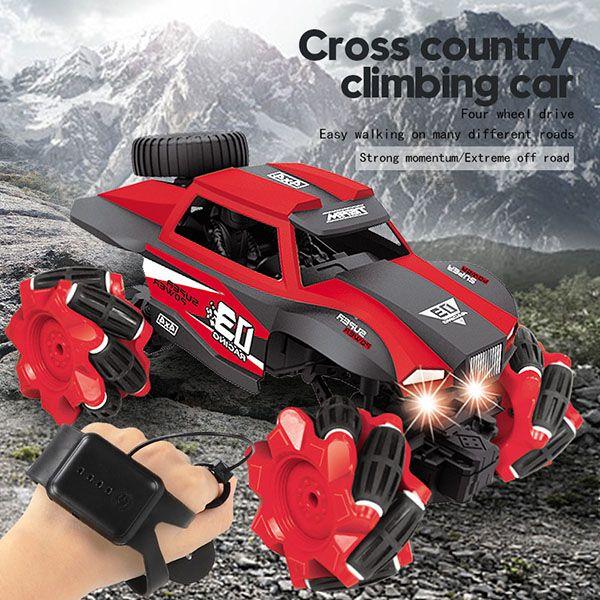 inducción de coches de juguete de dobles Gesto iluminación escalada control remoto vehículo de juguete coches de juguete de control remoto fuera de la carretera de los Niños