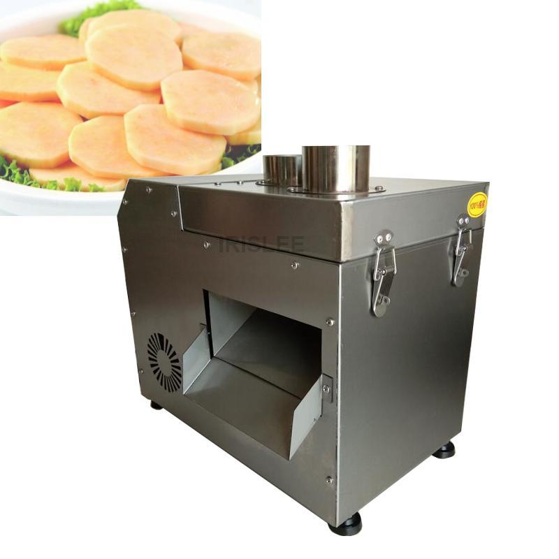 2020 Satış Fabrika doğrudan satış endüstriyel elektrik bitkisel kesici / patates cipsi dilimleme makinesi havuç, patates dilimleme makinesi