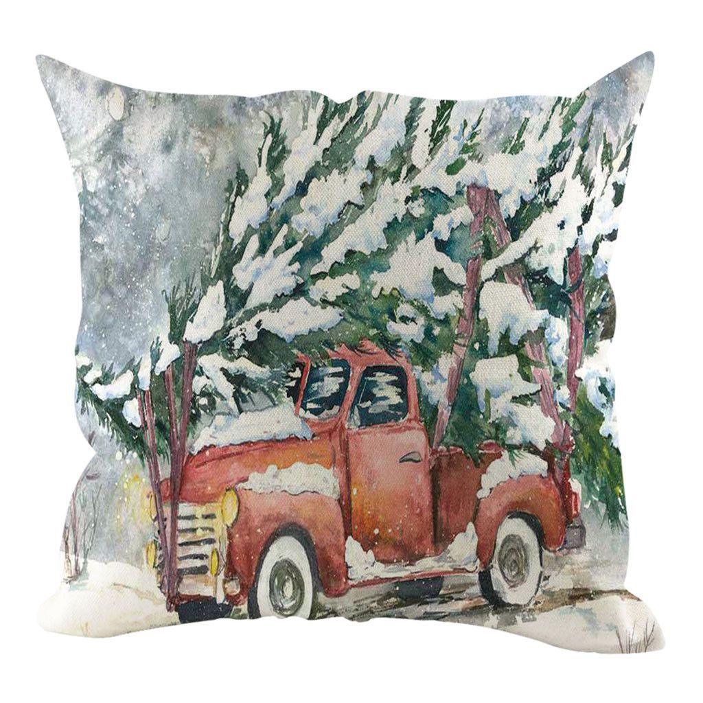 Yastık Kapak Noel Yastık Kapak Yastık kılıfı Dekoratif Koltuk Yastık Ev Dekorasyon Noel Süsleri Home For Yastık Kılıfı