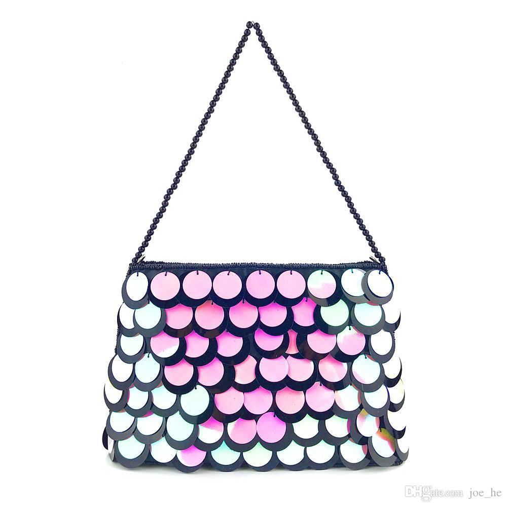 Цепные блестки сцепления дизайнер-сверкающие блеск ведра Bling Bling Bling Bling Bage Bag вечерняя сумка сцепления плечо жемчуга CBEEN