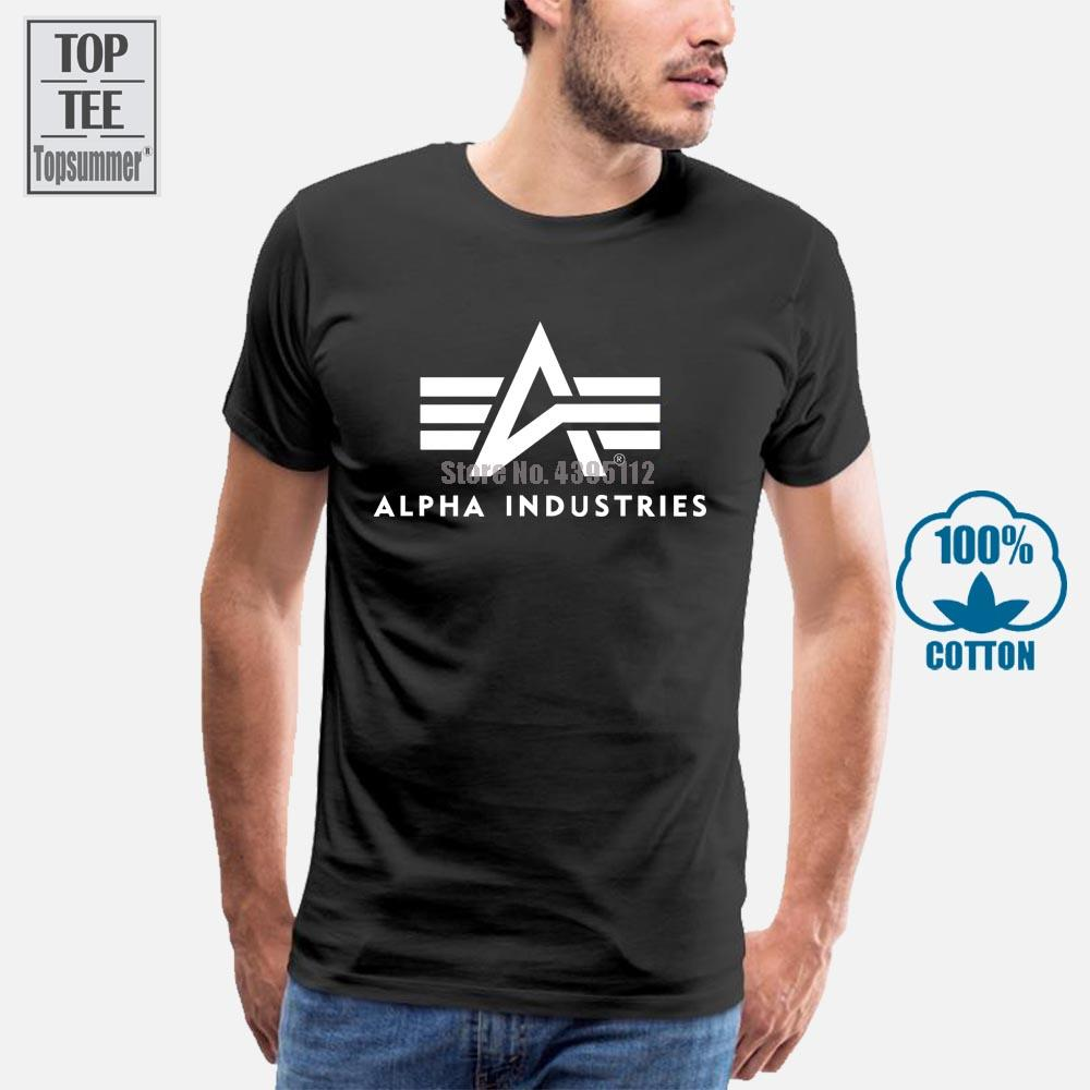 Alpha Industries Herren T Shirt Basic T Schwarz Manner Shirt Camicie Uomo manica corta Mens maglietta nera nuovo modo cotone T
