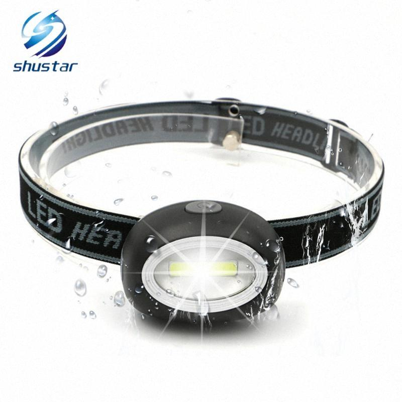 MINI LED Headlamp COB Work Light 3 Lighting Modes Powered By 3 Batteries Suitable For Camping, Adventure,Hiking,Etc. Black Light Headl fUFD#