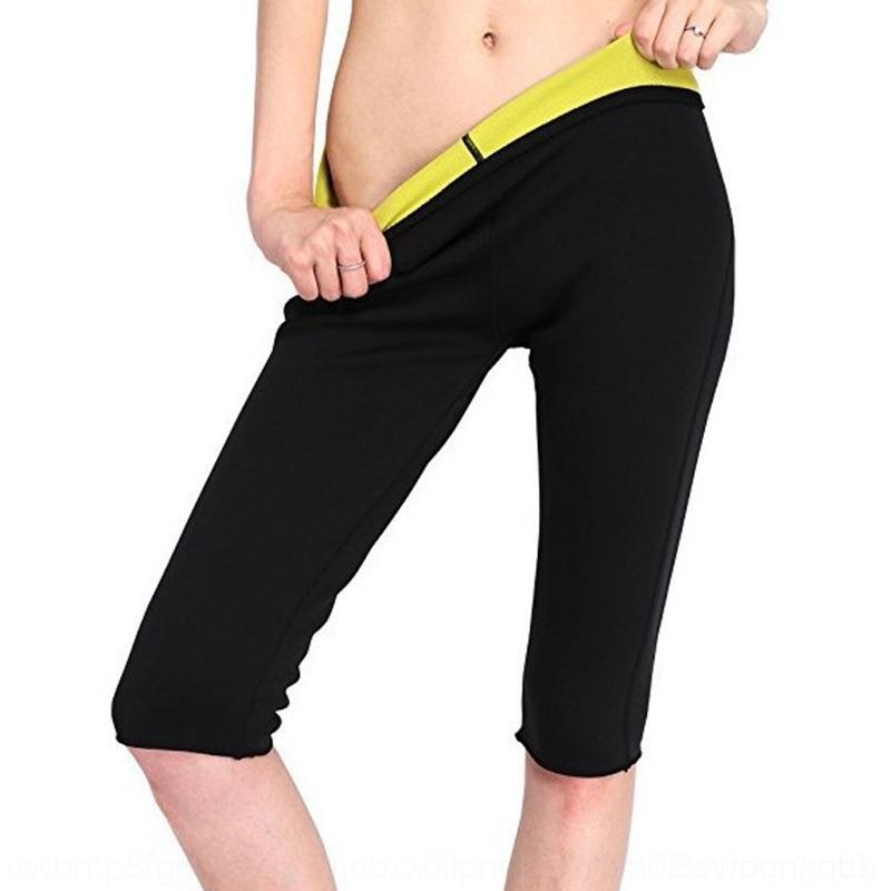 FxRQ8 collant pantaloni Capri sport modellare l'esecuzione del corpo sudorazione delle calzamaglia vestito sudorazione a maniche corte delle donne tuta 4Iz27 corsetto di fitness