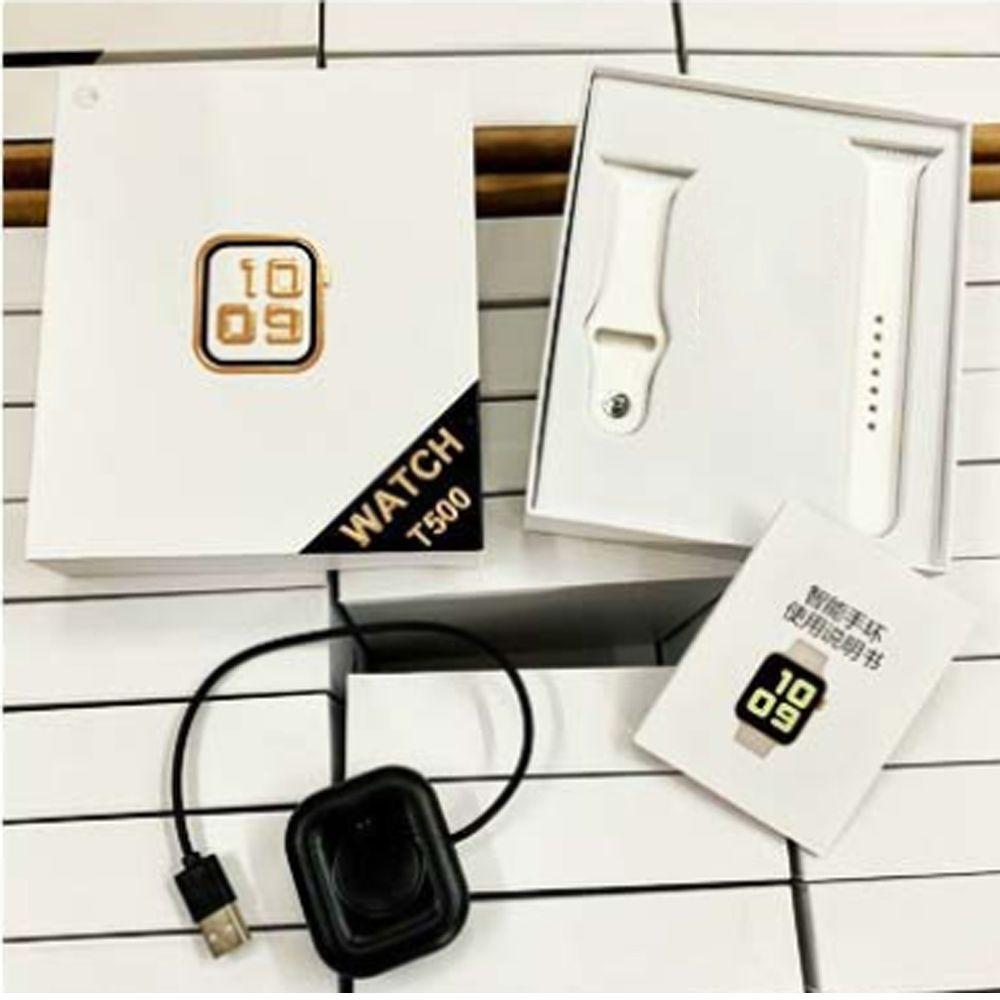 Smartwatch T500 Bluetooth Call 44mm Smart Fitness Track Sleep Tracker Guarda la frequenza cardiaca Monitor Pressione sanguigna VS PK IWO12 IWO8