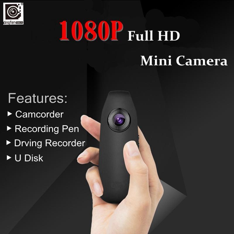 البالية DINGFENTECH ID07 كامل 1080p HD لاسلكية صغيرة القلم الكاميرا مايكرو الجسم أغاني الفيديو سيارة مسجل الحركة العمل DV DVR كاميرا