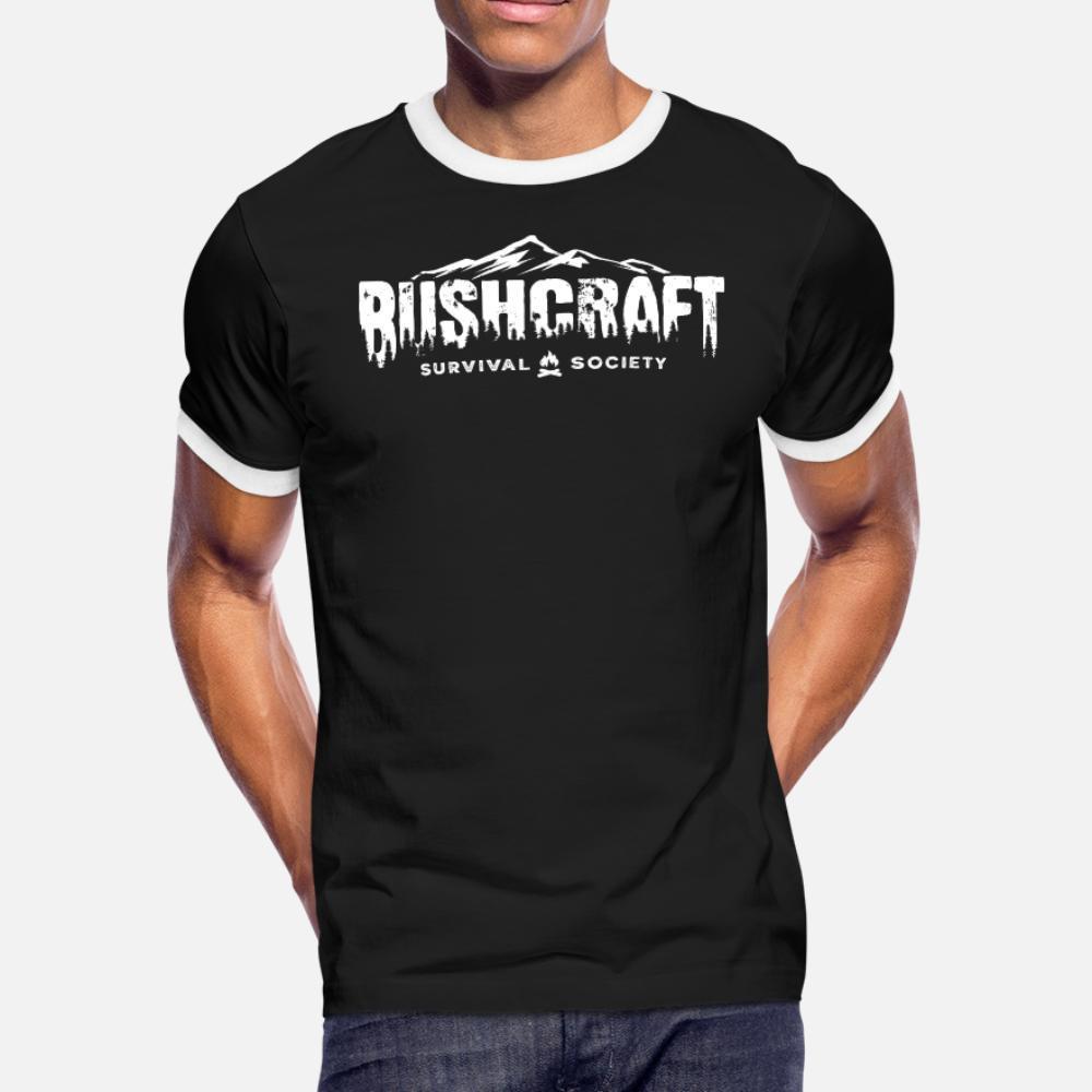 bushcraf prepper ao ar livre da camisa homens sobrevivência t personalizado algodão gola redonda Natural Camisa bonito New Style verão Kawaii