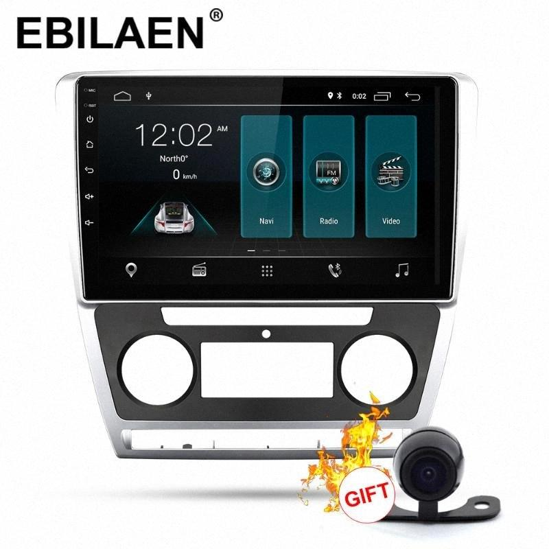 Rádio EBILAEN Car Multimedia Player Para Octavia 2 A5 2008 2013 2Din Android 9.0 Autoradio GPS Navigation DVR Camera IPS Car Dvd Dvd Pl qirV #