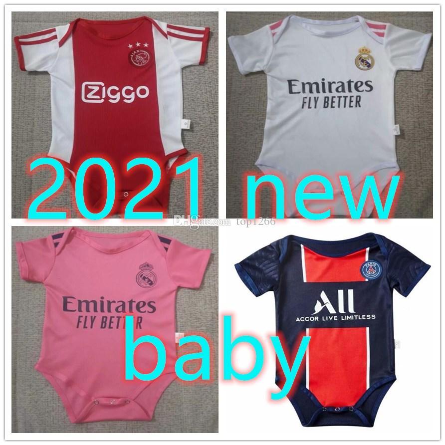 20 21 Curry nascido bebê menina roupas A última jérsei 2020 2021 Real Madrid salah qualidade messi 6-18 meses bebê shir
