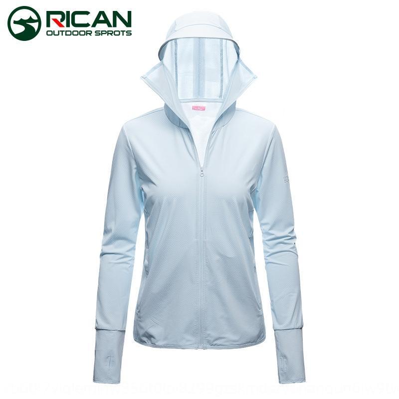 Wo dünnen atmungsaktiv mit Hut Frauen-UV-Herren-Sonnenschutz-Mantel-Mantel Sommer Eis Seide Sonnenschutz gestrickten langer Ärmel
