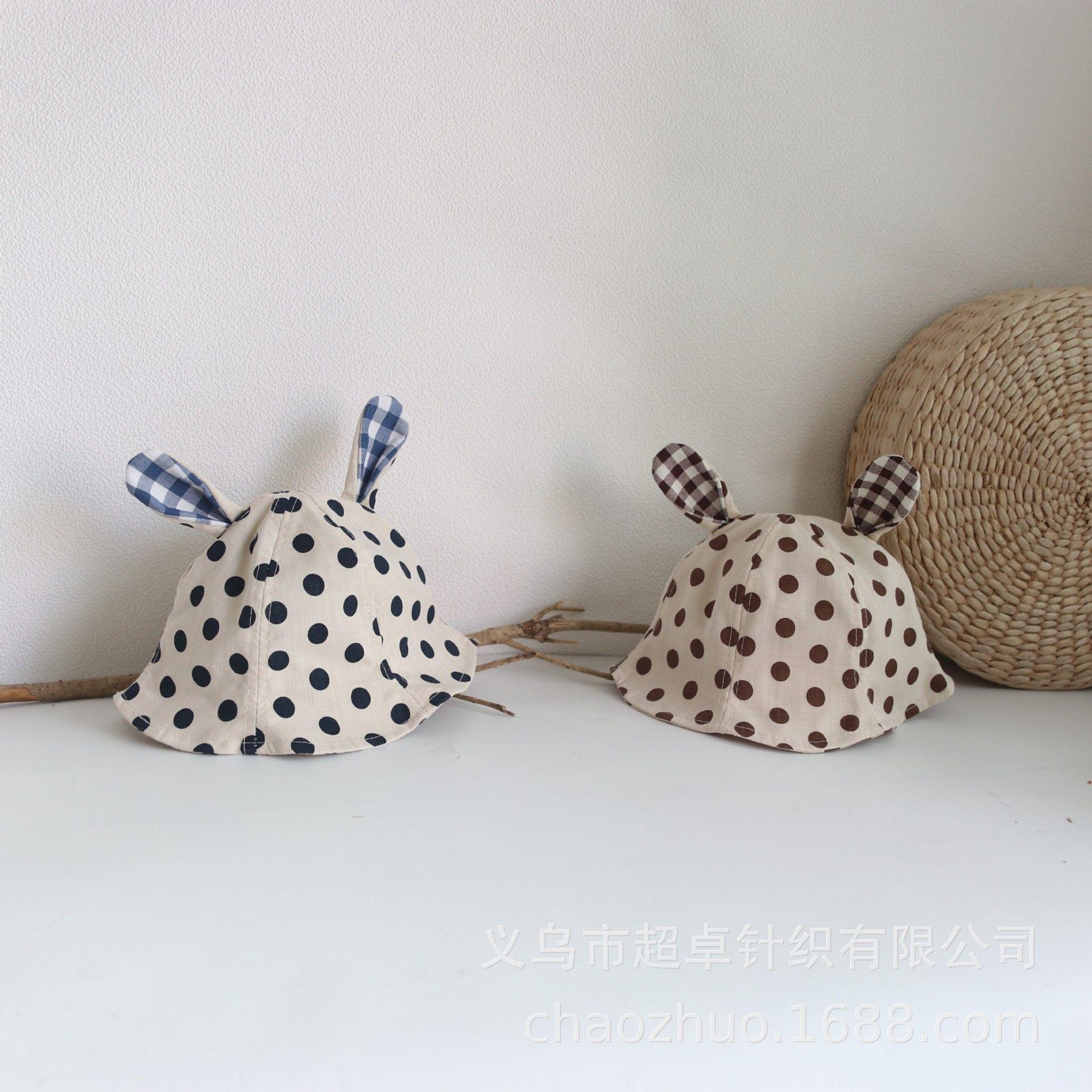 style coréen nouveau polka chapeau pour enfants tu Er Tu Er dot lapin chapeau bassin oreille