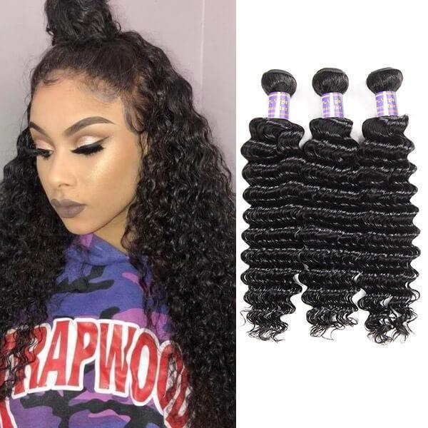 Allove extensões do cabelo brasileiro do cabelo humano Pacotes Virgin cabelo encaracolado onda do corpo em linha reta solta Water Wave Atacado 3Bundles