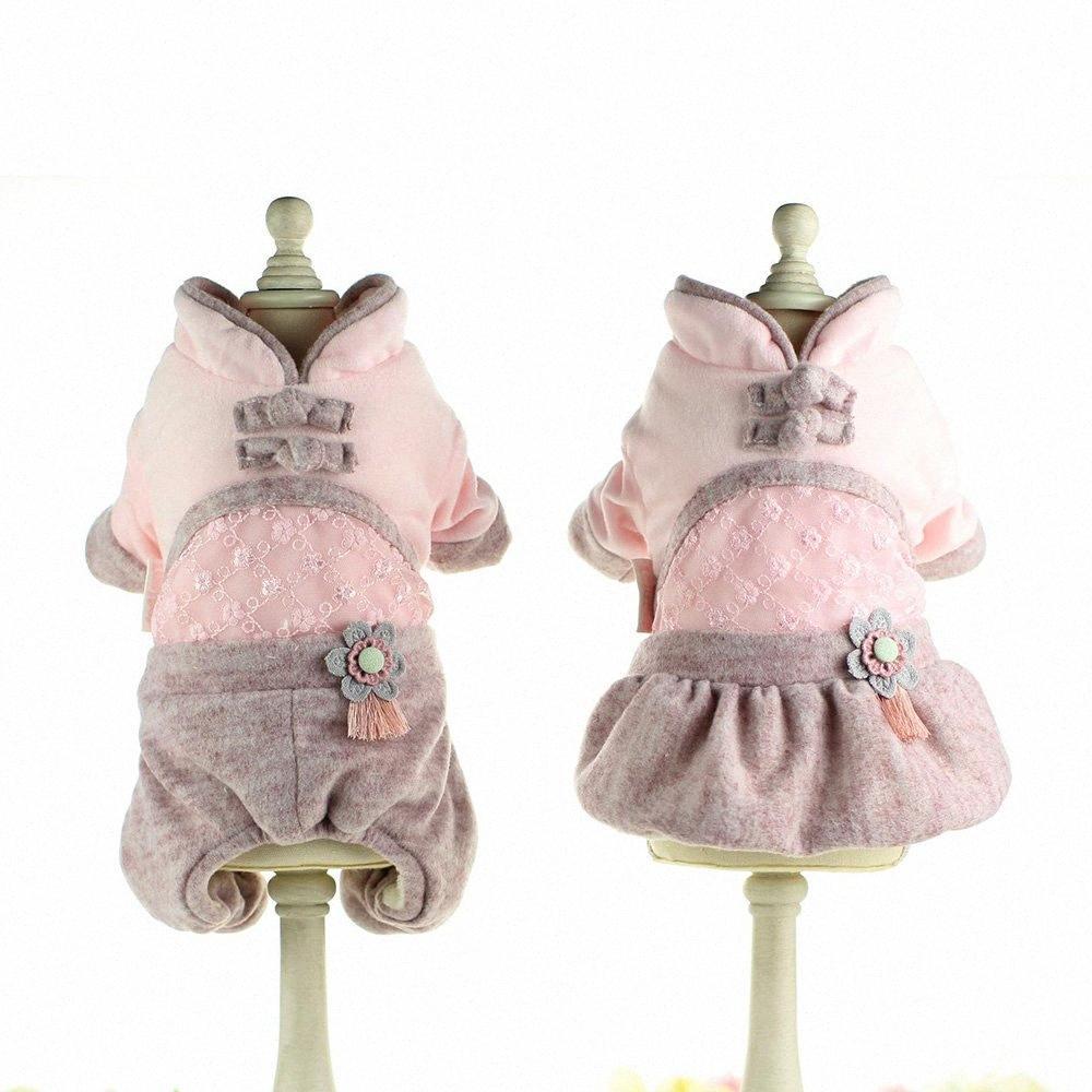 Boy/Girl Pet Dog Winter Coat Dress Tang Costume Cat Puppy Hoodie Jumpuit Winter Warm Clothing Apparel 3DIy#