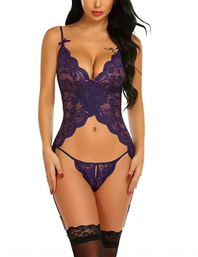Nuovo sexy canotta maglia corpo fionda ombelico plasmare Nuovo merletto sexy canotta maglia del merletto della maglia ombelico sling corpo che modella la maglia EyXIr