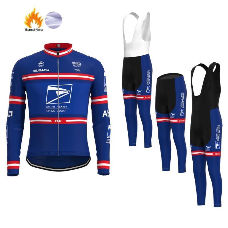 Invierno en Estados Unidos Equipo Postal de ciclismo masculino conjunto maillot ropa de Triatlón de bicicletas MTB traje de pantalones Ropa Culotte Maillot bici del camino