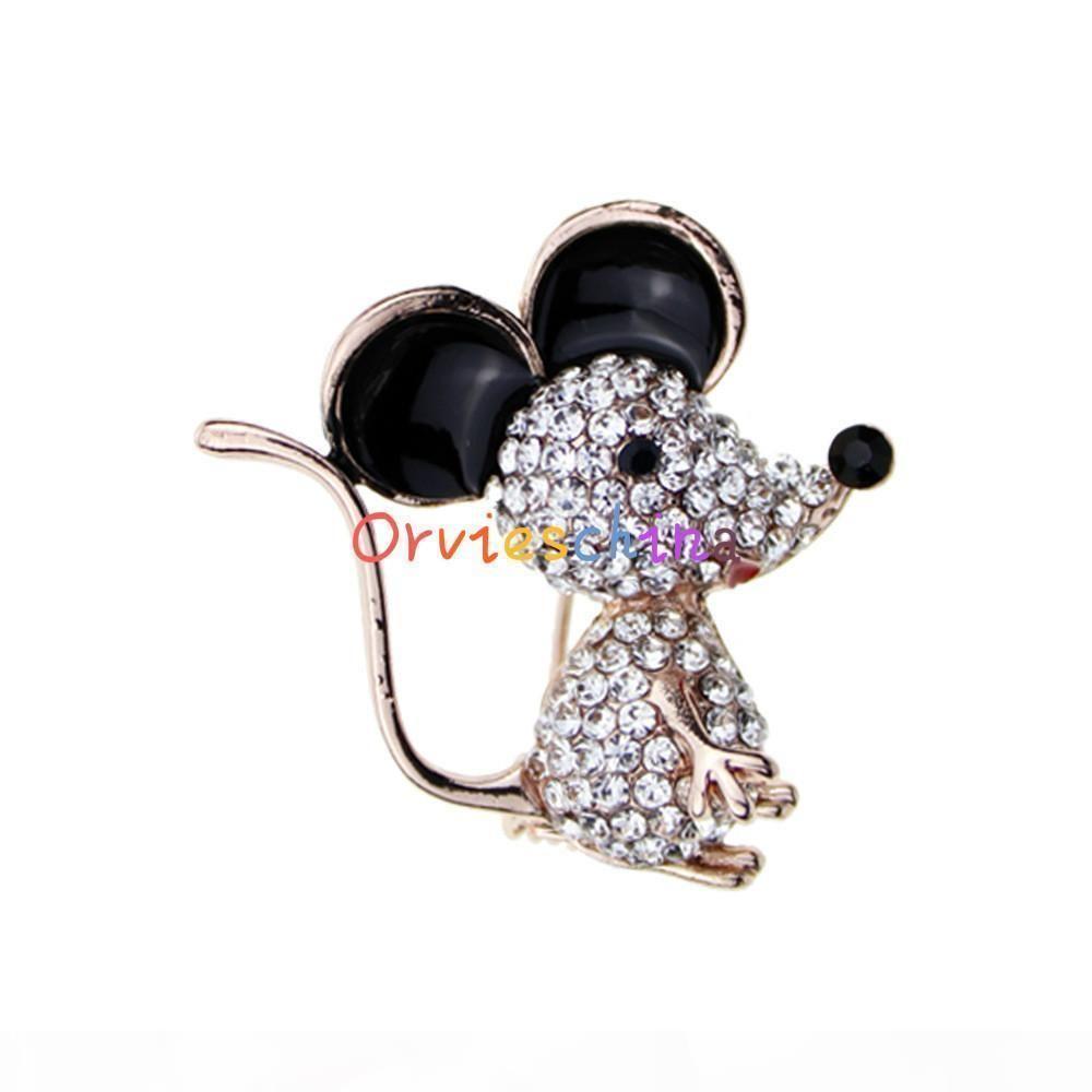 broche francés señoras de la venta caliente de la manera 2020 años broche diseñador nuevo ratón de dibujos animados accesorios broche de joyería