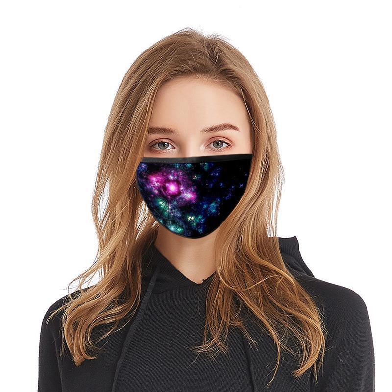La impresión en 3D lavable Dazzle del color Diseño mascarilla y mascarillas de algodón reutilizables puerta de salida practicar deporte Máscara Máscaras diseñador de moda