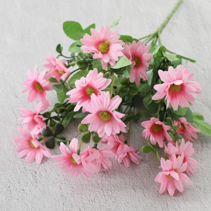 Falso seta artificiale del fiore di simulazione della margherita mazzi festa a casa di nozze Decorazione Floreale per la casa Garden Party Ufficio GGWP #