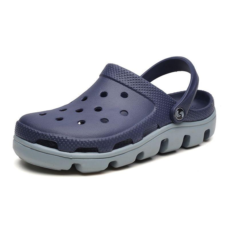 Sandalias Moda Moda Transpirable Fretwork Slip en Toe cubierto Eva Piso Calzado Casual Calzado Mujeres Playa Zapatos Grandes Tamaño 35-47
