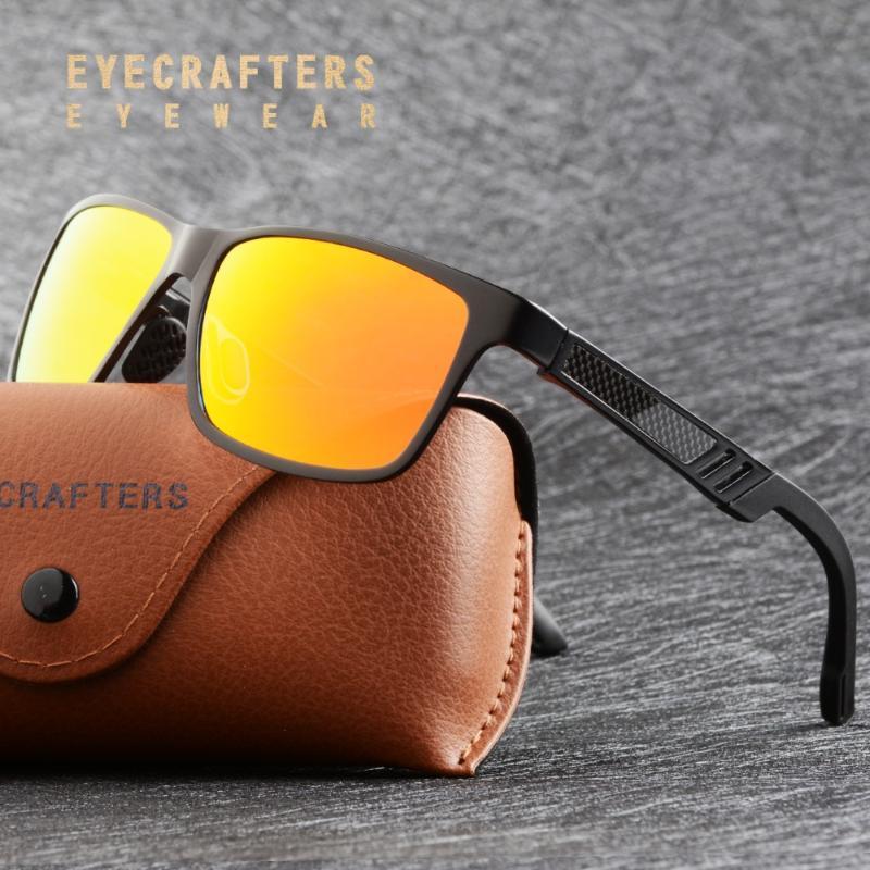 Eyecrontes Shades Aluminium Männer Sonnenbrille Magnesium Sonnenbrille Brille Polarisiertes Rechteck Für Fahren Männlich Oculos Masculino Männer Twrrq