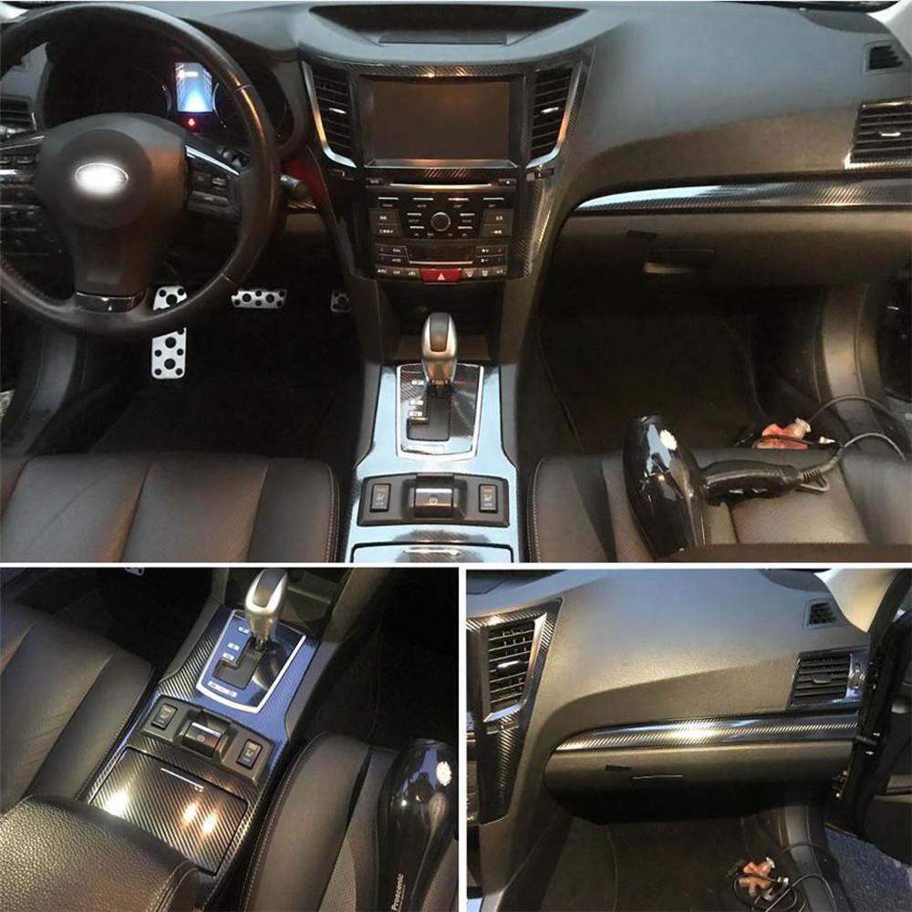 Subaru Legacy Outback 2010-14 Iç Merkezi Kontrol Paneli Kapı Kolu Karbon Fiber Çıkartmalar Çıkartmaları Araba Styling Accessorie
