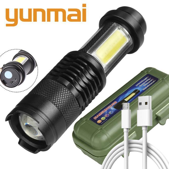 Встроенная в аккумулятор XP-G Q5 Увеличить Фокус Мини светодиодный фонарик лампы 2000 люмен Регулируемая пальчиковые водонепроницаемый для наружного