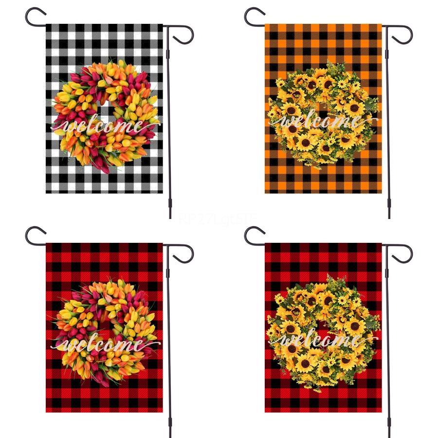 Новая партия животных Птица Добро пожаловать Печать Сад Флаг PolyesterHanging Флаг Дом Украшение Портативный Баннер Флаги # 865
