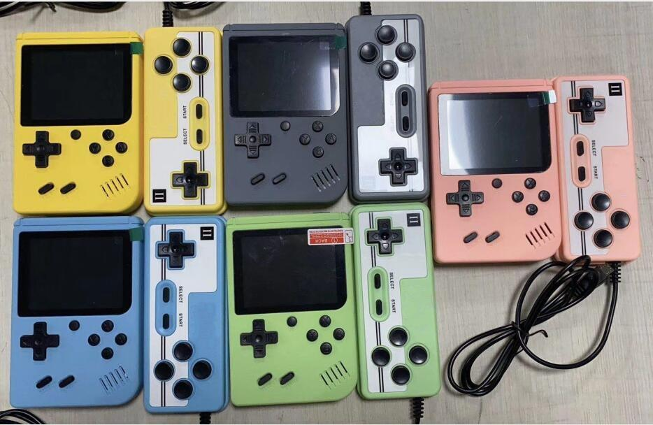 Mini Handheld Macaron Game Console 500/400 in 1 Retro Video Game Console 8 Bit 3.0 Inch Colorful LCD Support Two Players