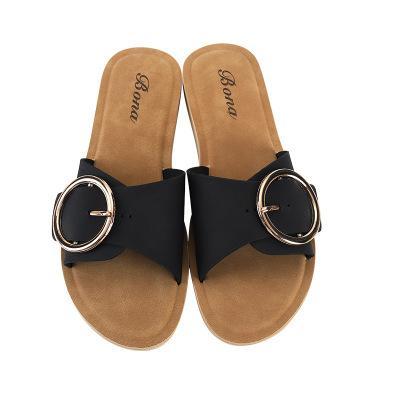 Été Nouveau Femmes Sandales Brown Chaussures plates Haut Qaulity