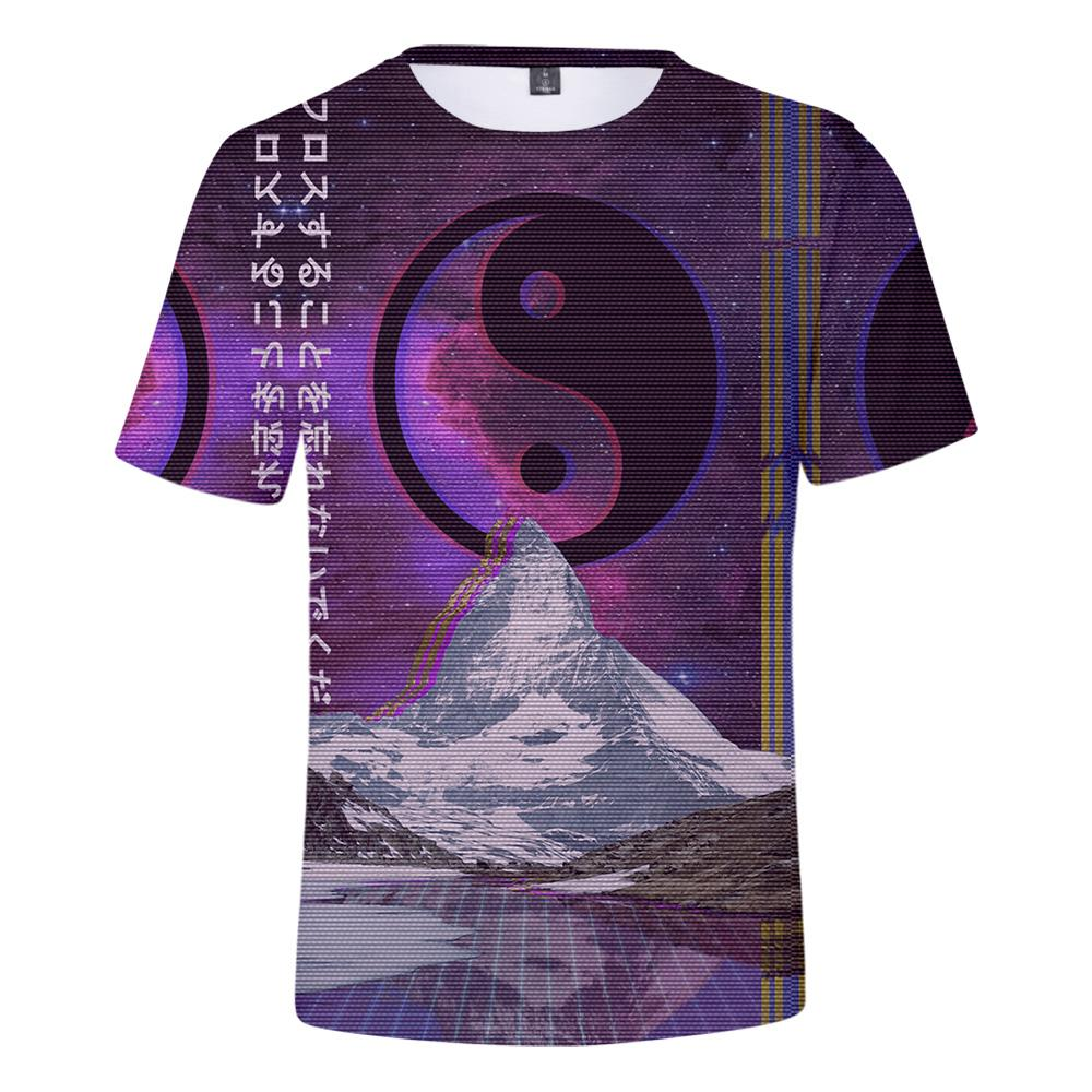 2020 estilo tendencias vaporwave NUEVA manera la música de baile electrónica camiseta hombres / hip hop informal camiseta de manga corta ropa