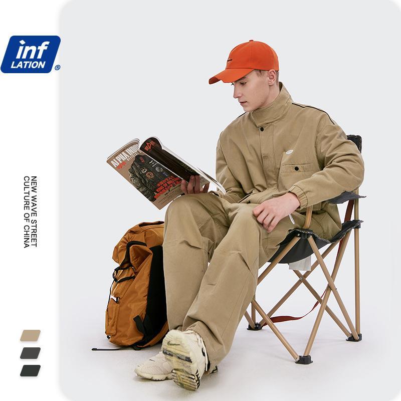 urocM Automne nouveau workwear à capuchon de mode pour hommes 2020 travail taille en vrac grande nouvelle veste coutures couleur contrastée veste de vêtements pour les hommes