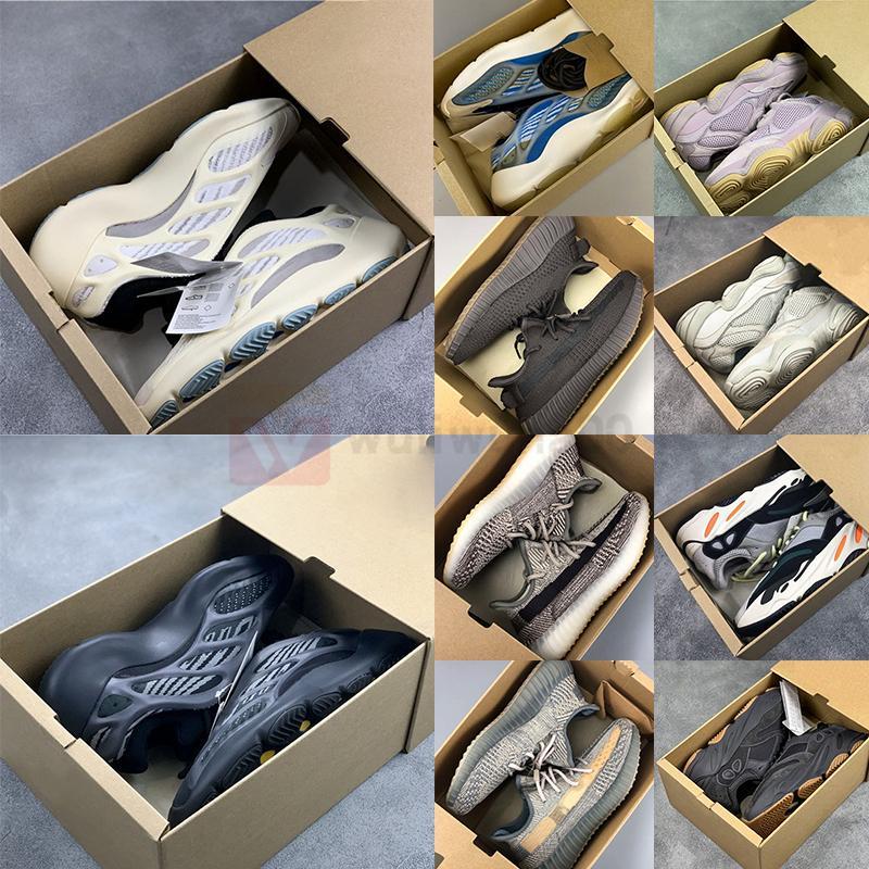 박스 700 V3 Alvah Azael Arzareth 스니커즈 청록 블루 (500 개) 소금 실행 신발 쇠 찌끼 ABEZ 사막 세이지 반사 카니 로퍼 남성 트레이너