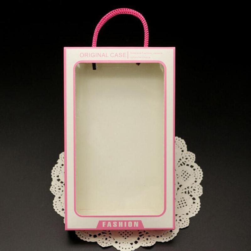 Grande taille Paper Fashion originale Package Retail Box avec Fenêtre PVC Pour Iphone 11 8 7 Couverture Shell Samsung Display Housse en cuir Box