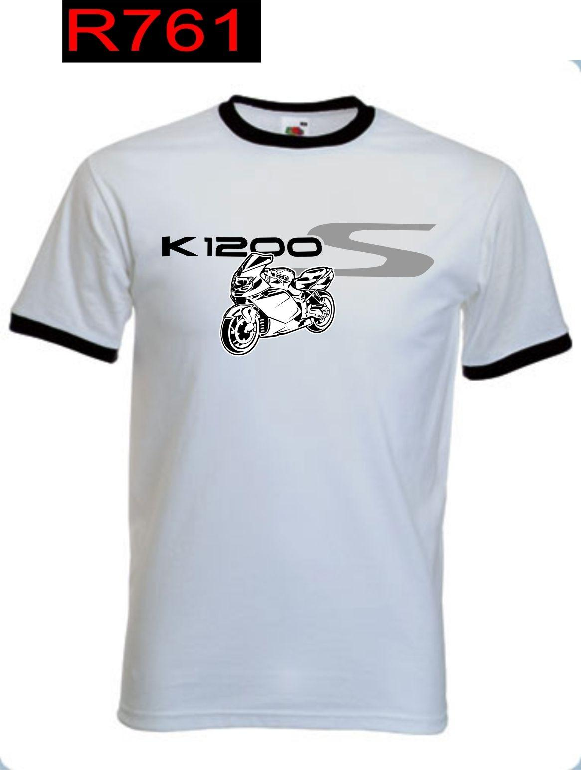 2019 Disegni Mens Tshirt Top fredda di estate Fans divertente Moto Classic Tedesco Moto K 1200 K1200 S K1200S Jersey design Una Camicia