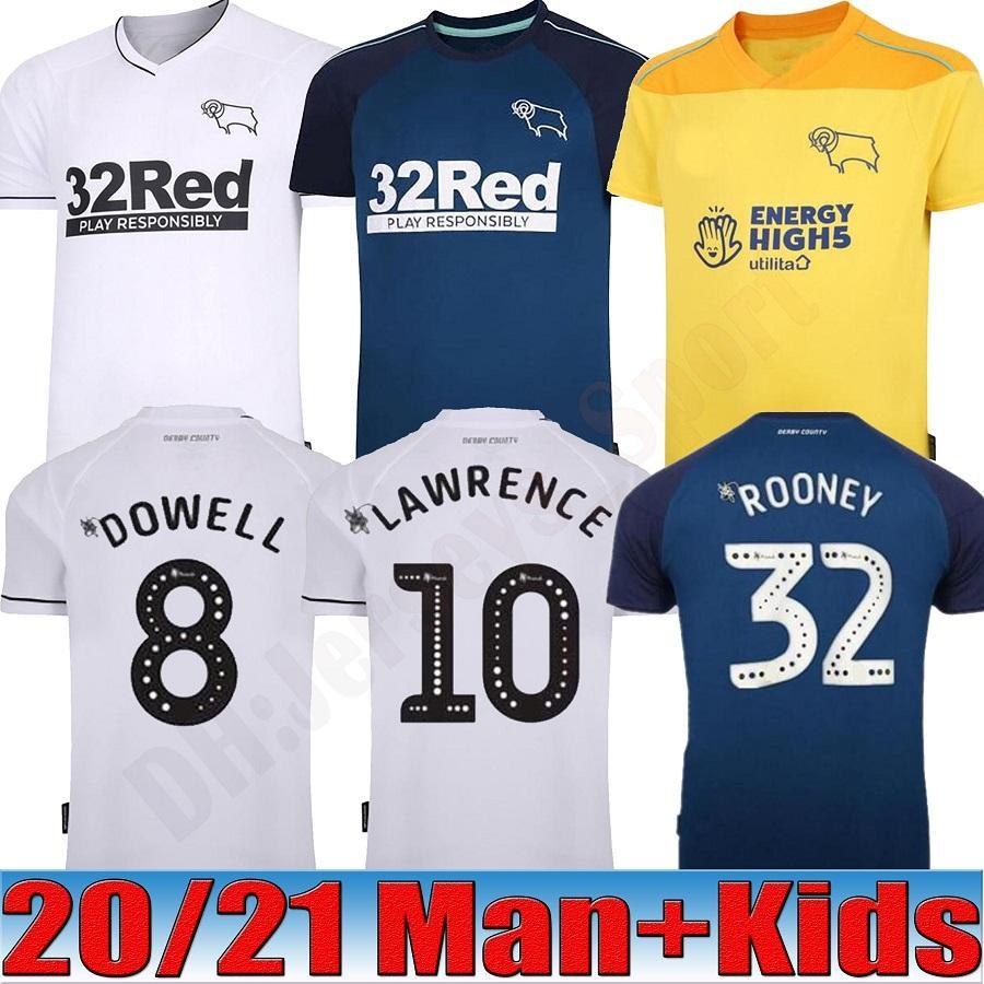 Tailândia 2020 2021 Derby County Football Club Futebol de 32 Rooney camisas de futebol 20 21 camisas de futebol encabeça crianças equipamentos kits maillots