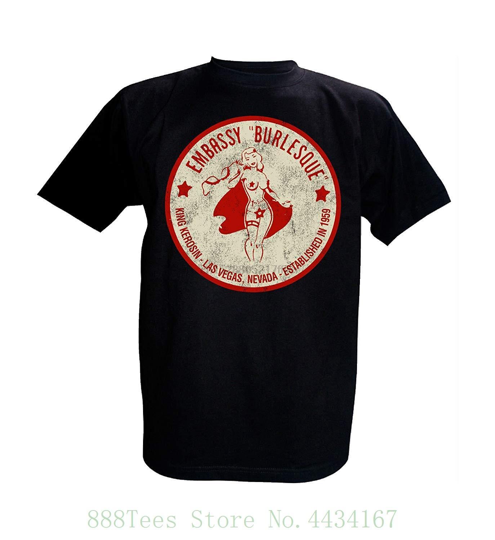 shirt do rei Kerosin T Embaixada Burlesque Camiseta O pescoço verão personalidade camisas dos homens da forma T
