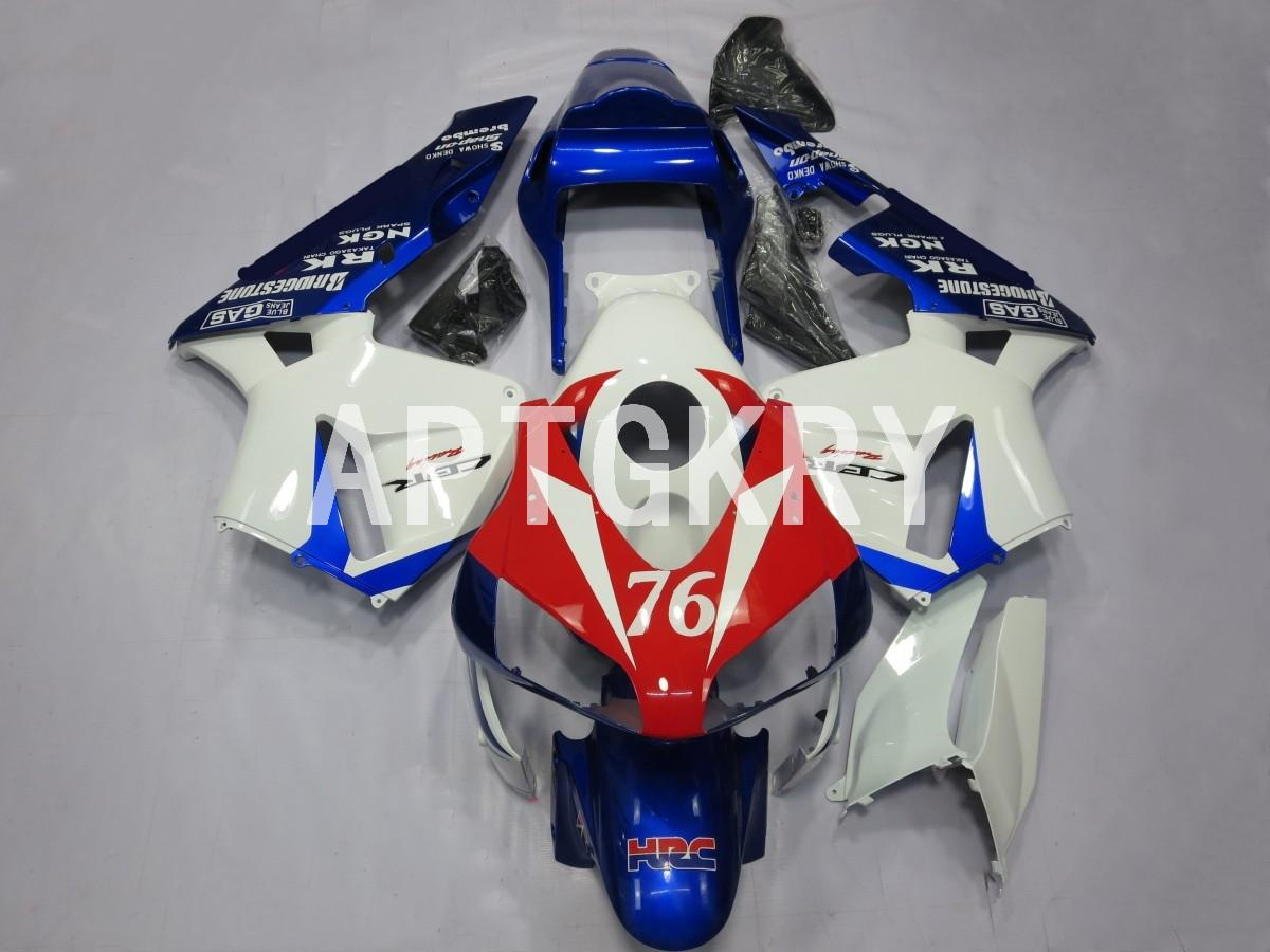 4 Gifts New ABS Motorcycle fairings kit fit for Honda CBR600RR F5 2003 2004 Custom Red Blue HRC (injection mold)