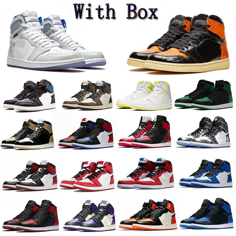 Top Flyman 1 أحذية كرة السلة أحذية رياضية jumpman متعدد الألوان رمادي أسود بنفسجي الوردي كودري إمرأة رجالي OG الرياضة مع مربع 36-46