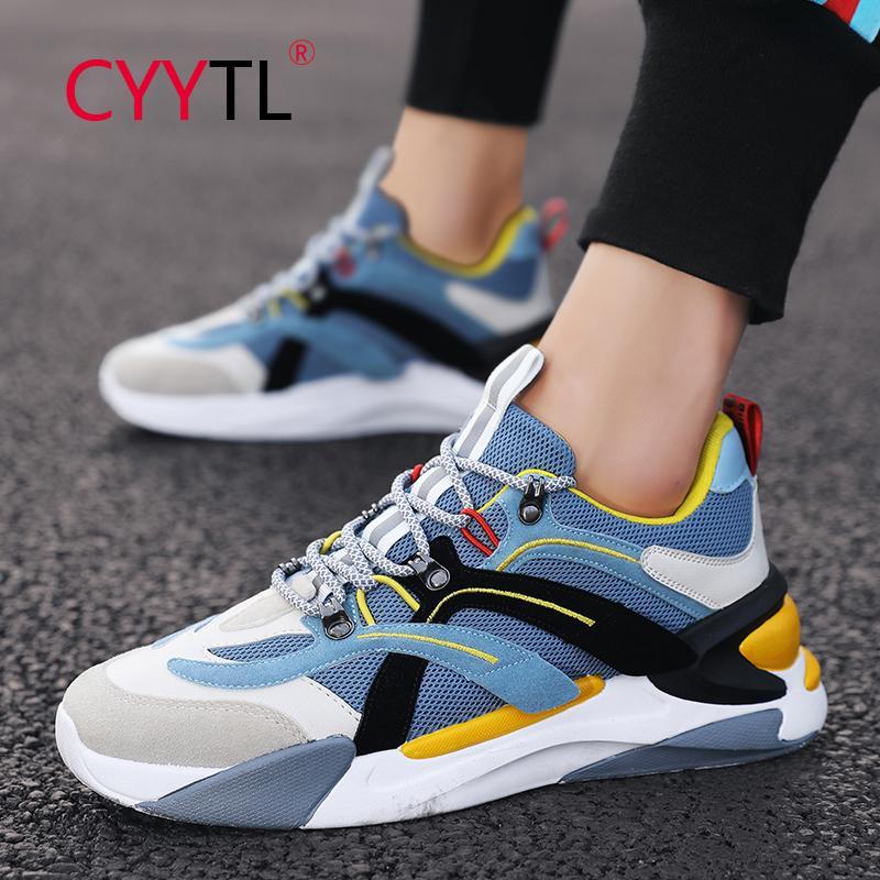 CYYTL Mode pour hommes Chaussures de sport Courir Respirant Confortable Chaussures antidérapants légère Tennis Courir Sport Mocassins Homme