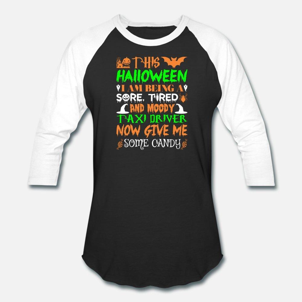 Questo Halloween essere stanco Taxi Driver Candy uomini della maglietta di cotone lavorato a maglia Euro Size S-3XL camicia naturale Carino Immagini di base stile estivo